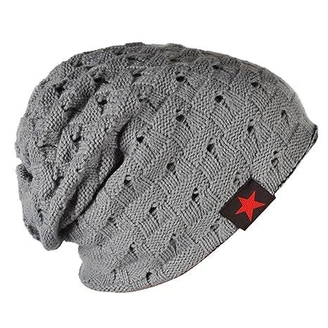 Thenice Cappello Uomo Reversibile Berretto Inverno Cap (Grigio chiaro) 6a75280c91e2