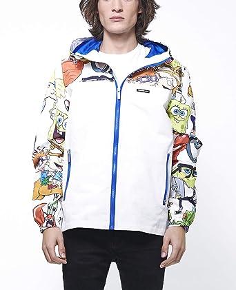 Members Only Mens Nickelodeon Hooded Windbreaker Jacket MN010075