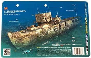 Amazoncom New Art to Media Underwater Waterproof 3D Dive Site Map