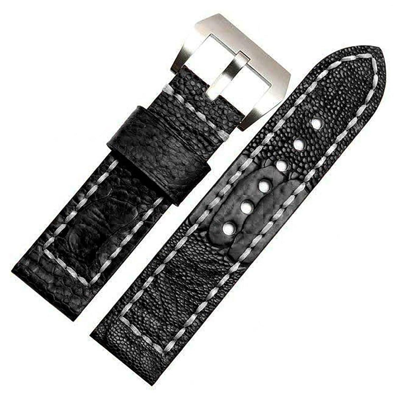 [エイト]腕時計ベルト 24mm ブラック レザー ELB051 [並行輸入品]  B01NAI8VA4