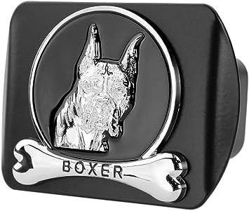 Dog Chrome 3D Badge Emblem Metal Trailer Hitch Cover Fits 2 Receiver, German Shepherd