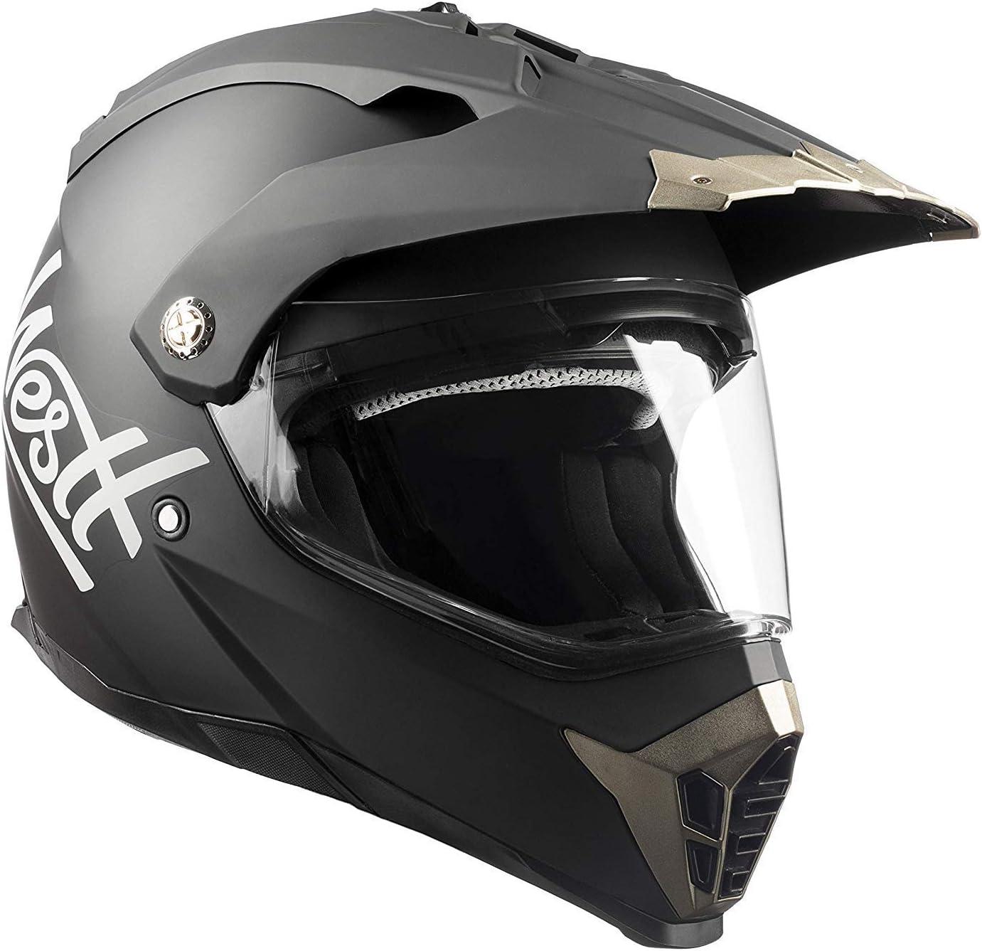 Westt Cross Motocross Integralhelm Doppelvisier Matt Schwarz Motorradhelm Roller Ece Zertifiziert Sport Freizeit
