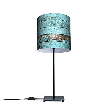 Original lámpara de mesa con diseño de diseño: madera azul ...