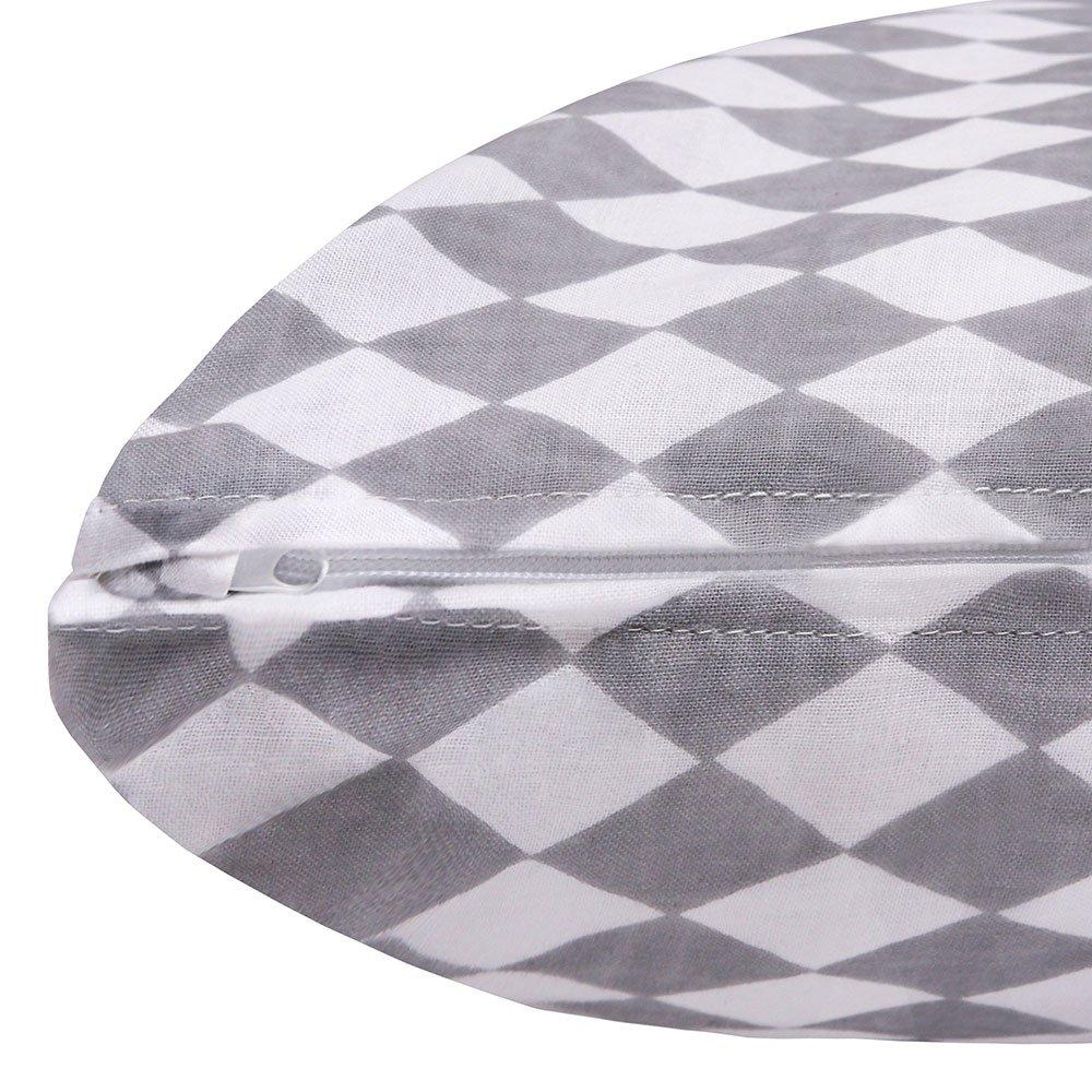 lulando sleepside cervicales Coj/ín de lactancia almacenar Coj/ín Suave y C/ómodo coj/ín de cuerpo para dormir y descansar negro Black Diamonds//White Talla:120 x 40 cm