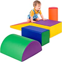Best Choice Products 5-Piece Kids Climb & Crawl Soft Foam Block Activity Play Structures for Child Development, Color…