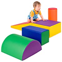 Best Choice Products 5-Piece Kids Climb & Crawl Soft Foam Block Activity Play Structures for Child Development, Color Coordination, Motor Skills