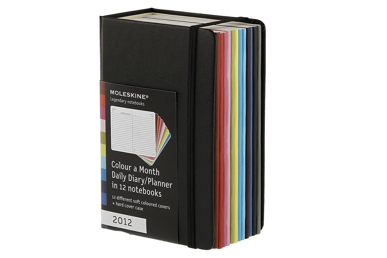 Moleskine 2012 12 Month Daily Planner Colour-A-Month: Set of 12 Monthly Planners