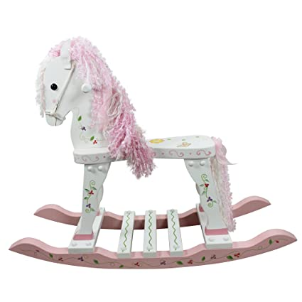 Fantasy Fields Princess Frog Thematic Wooden Rocking Horse Imagination Inspiring Hand Painted Details Non Toxic Lead Free Water Based Paint