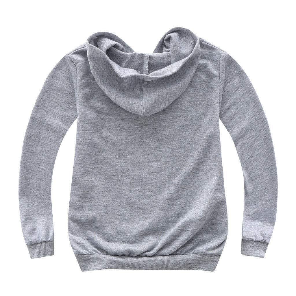 Felpe Sportiva per Me Contro Te Felpa con Cappuccio Bambino Bambina Unisex Casual Pullover Sweatshirt Maglia Ragazzi e Bambini Style 8