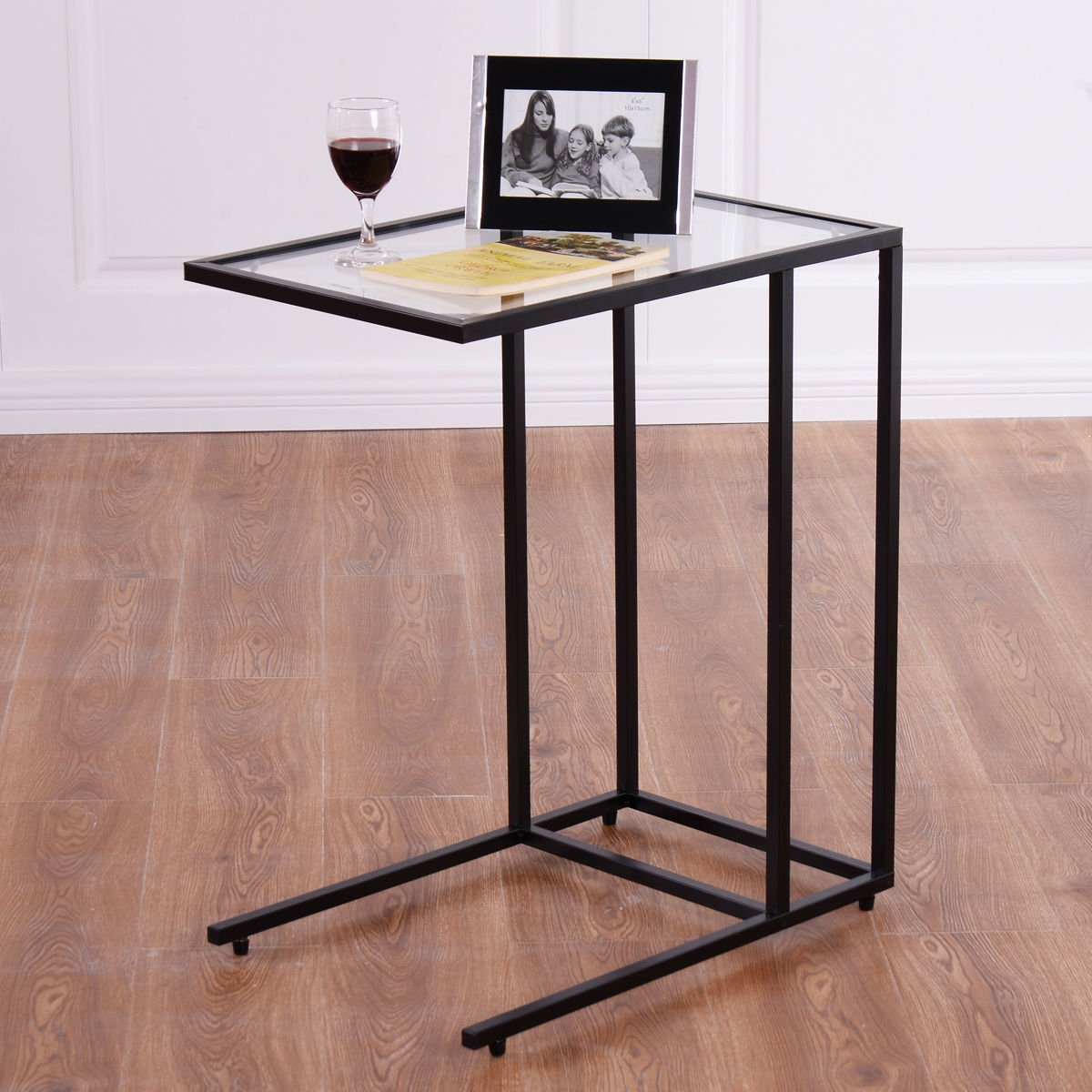 SKEMiDEX---Coffee Tray Side Sofa End Table Ottoman Couch Stand TV Lap Snack W/Glass Top New. Can be used as end tables, lamp tables, decorative displays tables, or simply accent pieces by SKEMiDEX (Image #5)