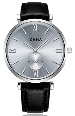 dcc1af57b Buy Dovoda Watches for Men Casual Classy Quartz Analog Wrist Leather Strap  (blackwhite) Online at Low Prices in India - Amazon.in