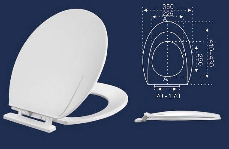 Abattant WC blanc avec couvercle ovale PP