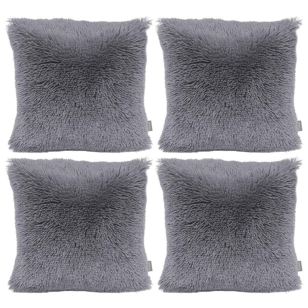 NO INSERT DrCosy Solid Fluffy Pillowcase Super Soft Faux Fur Cushion Cover Plush Throw Pillow Cases Home D/écor Pillowcover 45cmx45cm
