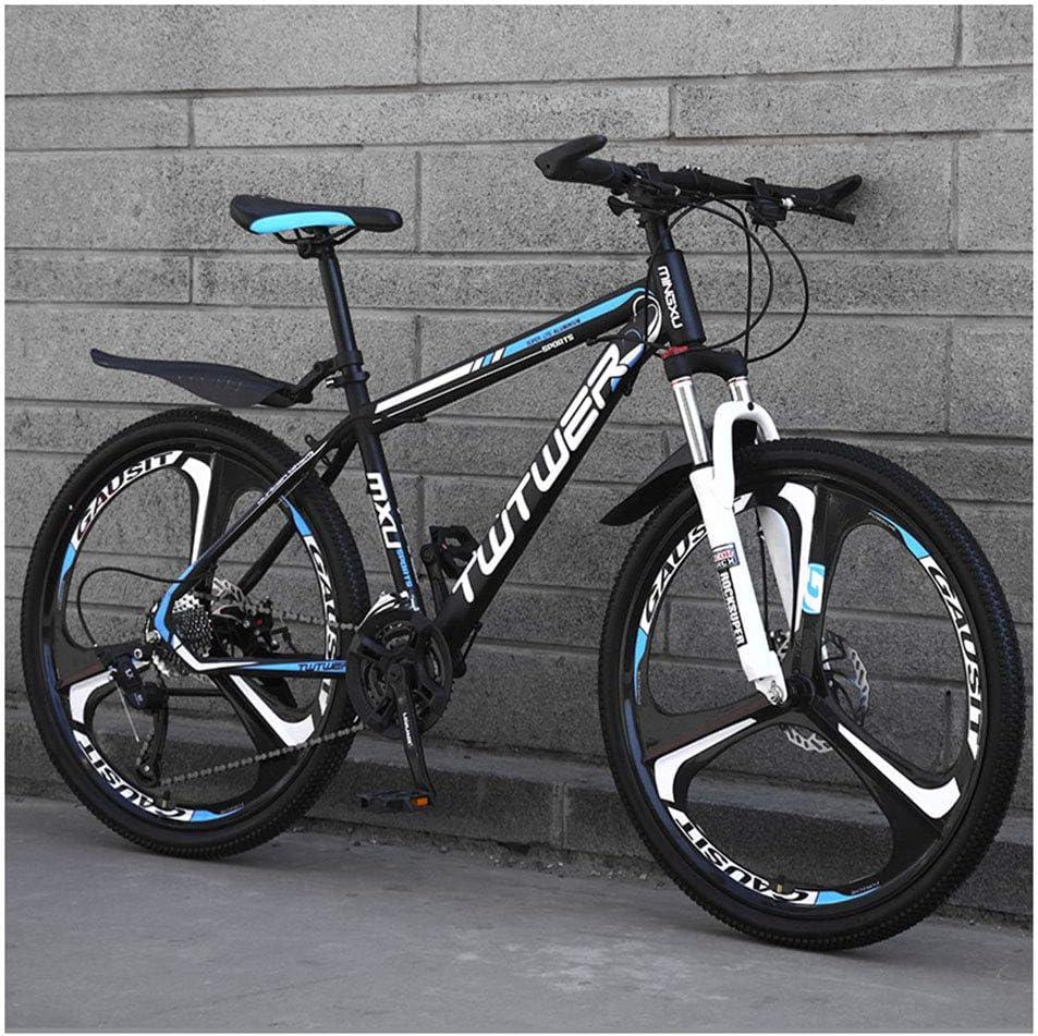 KXDLR Bicicleta De Montaña, Hard-Cola Montaña De La Bicicleta, Doble Disco De Freno Y Suspensión Delantera, De 26 Pulgadas 3 Ruedas De Radios
