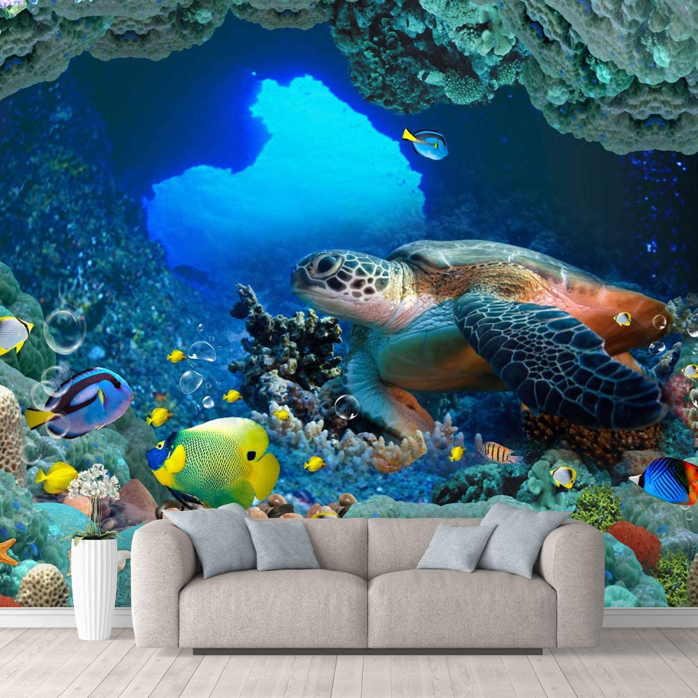 wall26 Wall Mural The Beautiful Undersea World Removable Self-Adhesive Large Wallpaper - 100x144 inches