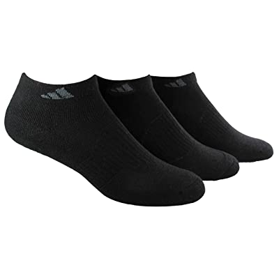 adidas Women's Cushioned Low Cut Socks (3-Pair), Black/Black, Medium, (Shoe Size 5-10): Clothing