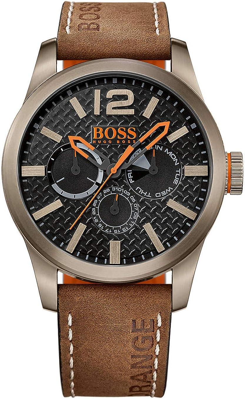 Hugo Boss OrangeReloj  de pulsera analógico  para Hombre, 1513240, Marrón/Negro
