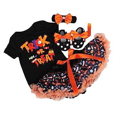 BabyPreg bebés de la Calabaza de Halloween Trajes de bebé, Mameluco de la Falda de Acción de Gracias-4Pieza