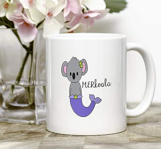 Amazon.com: Mermaid Animal Mug Christmas Gift For Her Meranimal ...