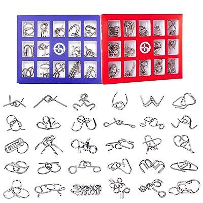 15000P 30Pack Rompecabezas Metal Puzzles 3D Juegos de Ingenio Calendario de Adviento para Niños y Adultos: Juguetes y juegos