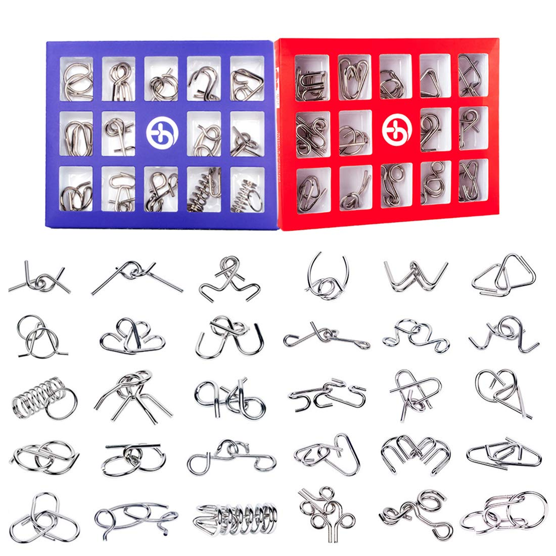 15000P 30Pack Rompecabezas Metal Puzzles 3D Juegos de Ingenio Calendario de Adviento para Ni/ños y Adultos