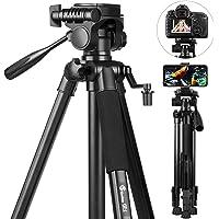 58 inch Camera Tripod, GooFoto 6.6lb/3KG Load Portable Lightweight Aluminum Travel Tripod for Nikon/DSLR/Sony/Canon…