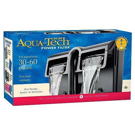 amazon com aquatech power aquarium filter 30 to 60 gallon