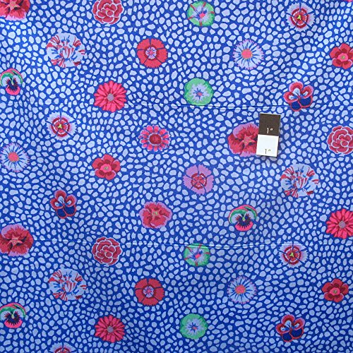 Kaffe Fassett PWGP059 Guinea Flower Cobalt Cotton Fabric By The Yard