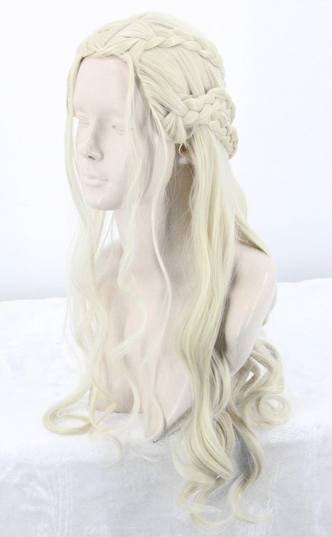 Topcosplay Larga Peluca Rubia para Mujer, Daenerys Targaryen ...