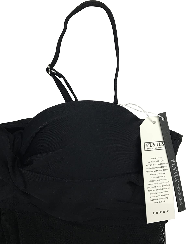 FLYILY Femme Push Up Engrener Tankini Maillots de Bain Bikini Set 2 Pi/èces Beachwear Taille Grande