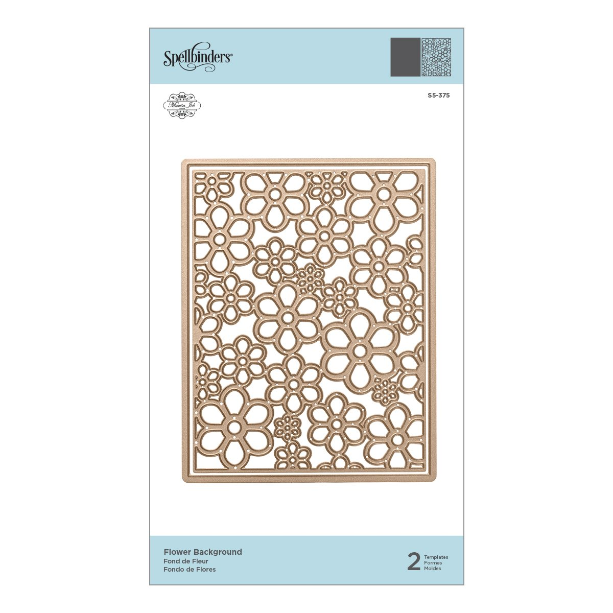 Amazon.com: Spellbinders S5-375 Shapeabilities Flower Background Etched/Wafer Thin Dies