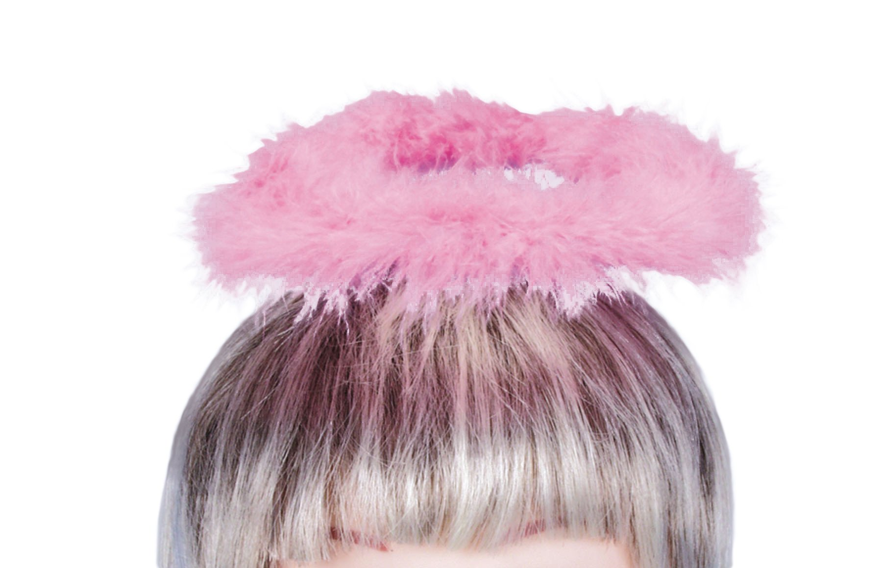 Loftus Christmas Angel Costume Feather Halo Headband, Pink, One Size