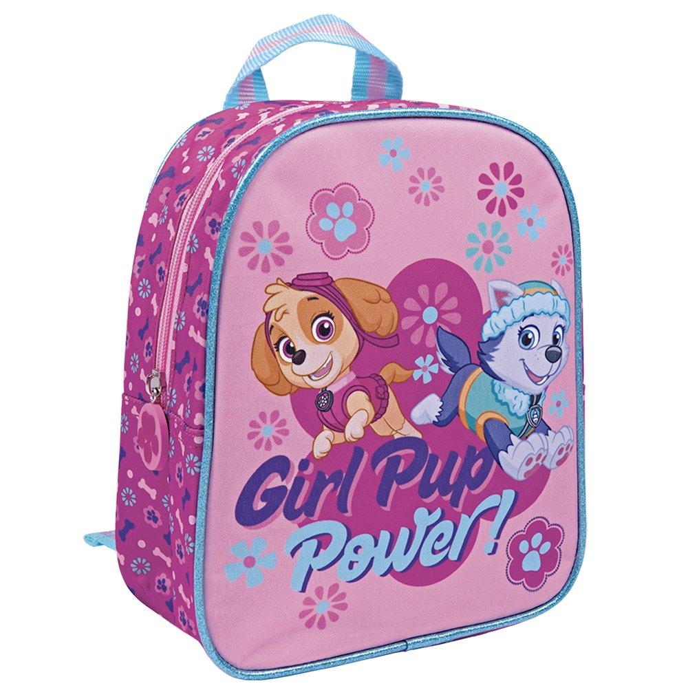 Perletti - Sac à dos La Pat Patrouille / Paw Patrol / Girl Pup Power - Sac à dos pour école primaire et maternelle - 24 x 20 x 10 cm - Rose perletti13528
