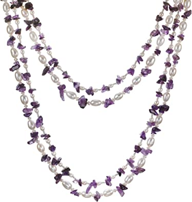 Natural Amethyst Stunning Elegant Necklace Gift For Her Natural Amethyst Beads Necklace Gemstone Beads Necklace 20 Inch 1 Strands