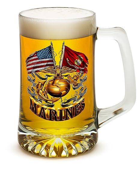 Amazon.com: Cerveza Tazas con asas – US Marines Tankard ...