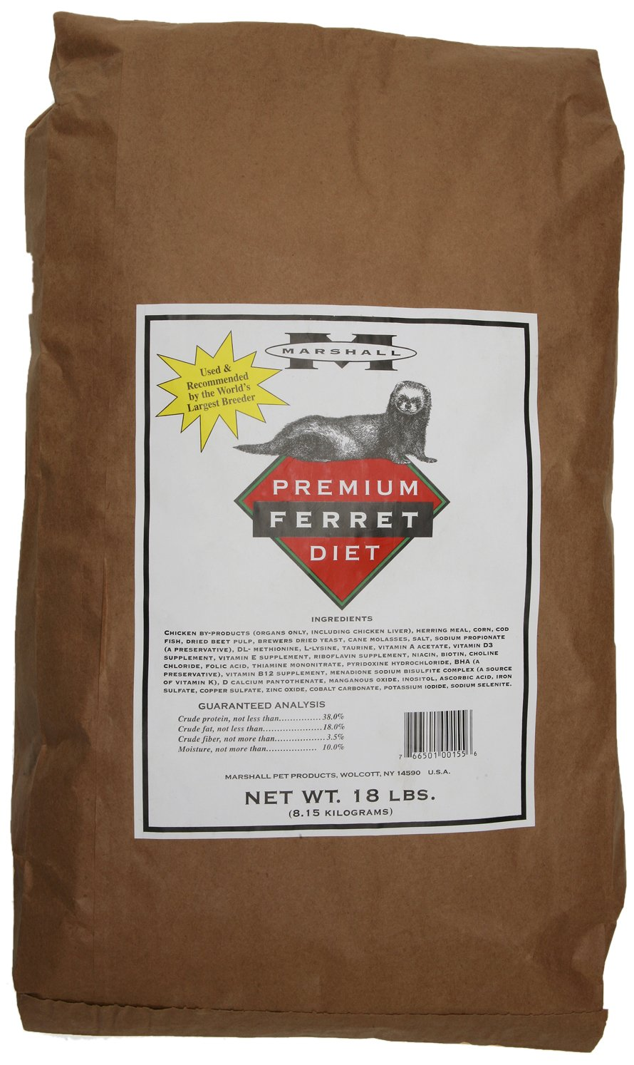 Marshall Premium Ferret Diet, 18-Pound Bag