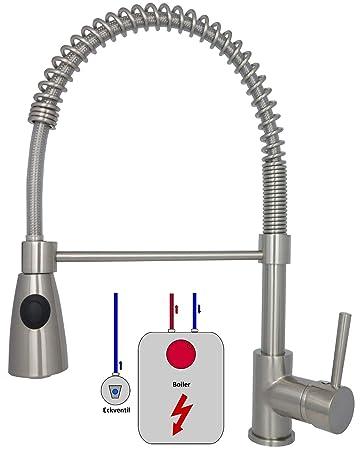 Niederdruck Armatur Küche Edelstahl Spültischarmatur Mischbatterie ...