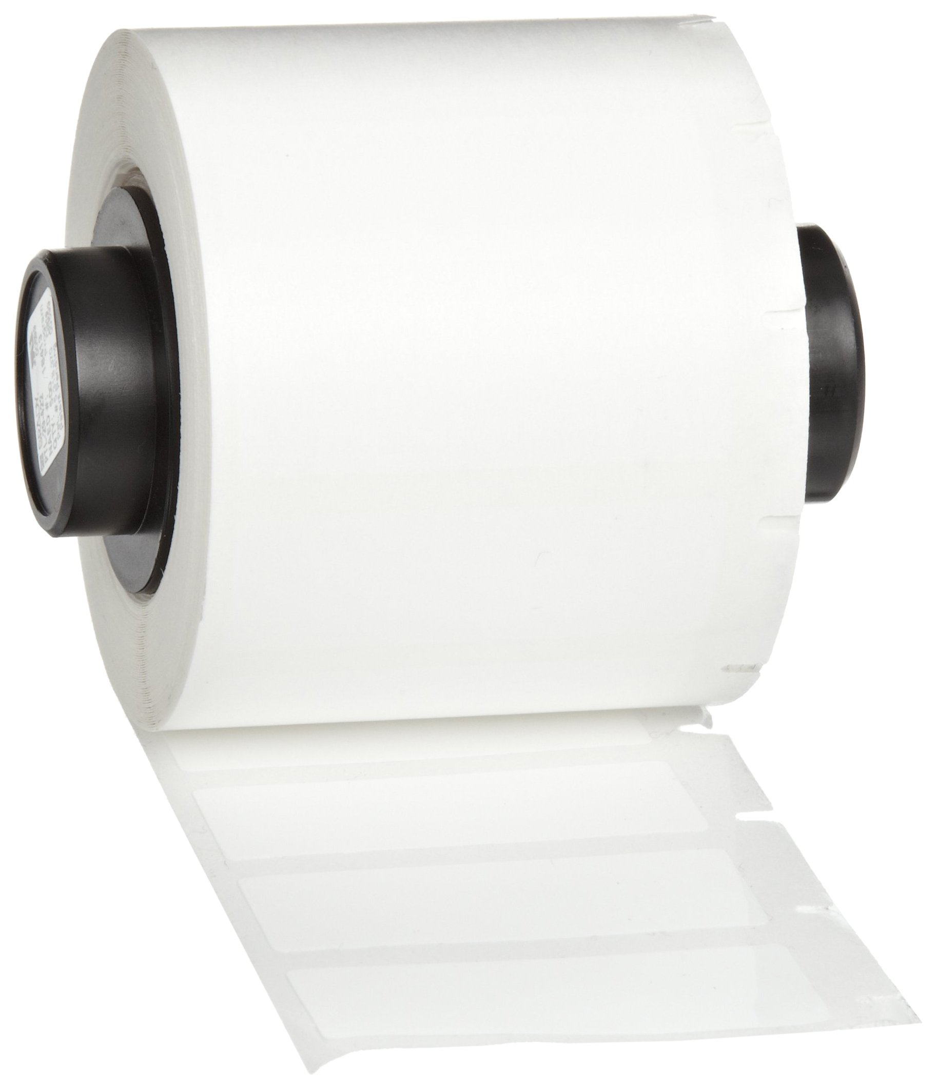 Brady PTL-29-422 TLS 2200 and TLS PC Link 1.5'' Width x 0.5'' Height, B-422 Permanent Polyester, Gloss Finish White Label (500 per Roll)