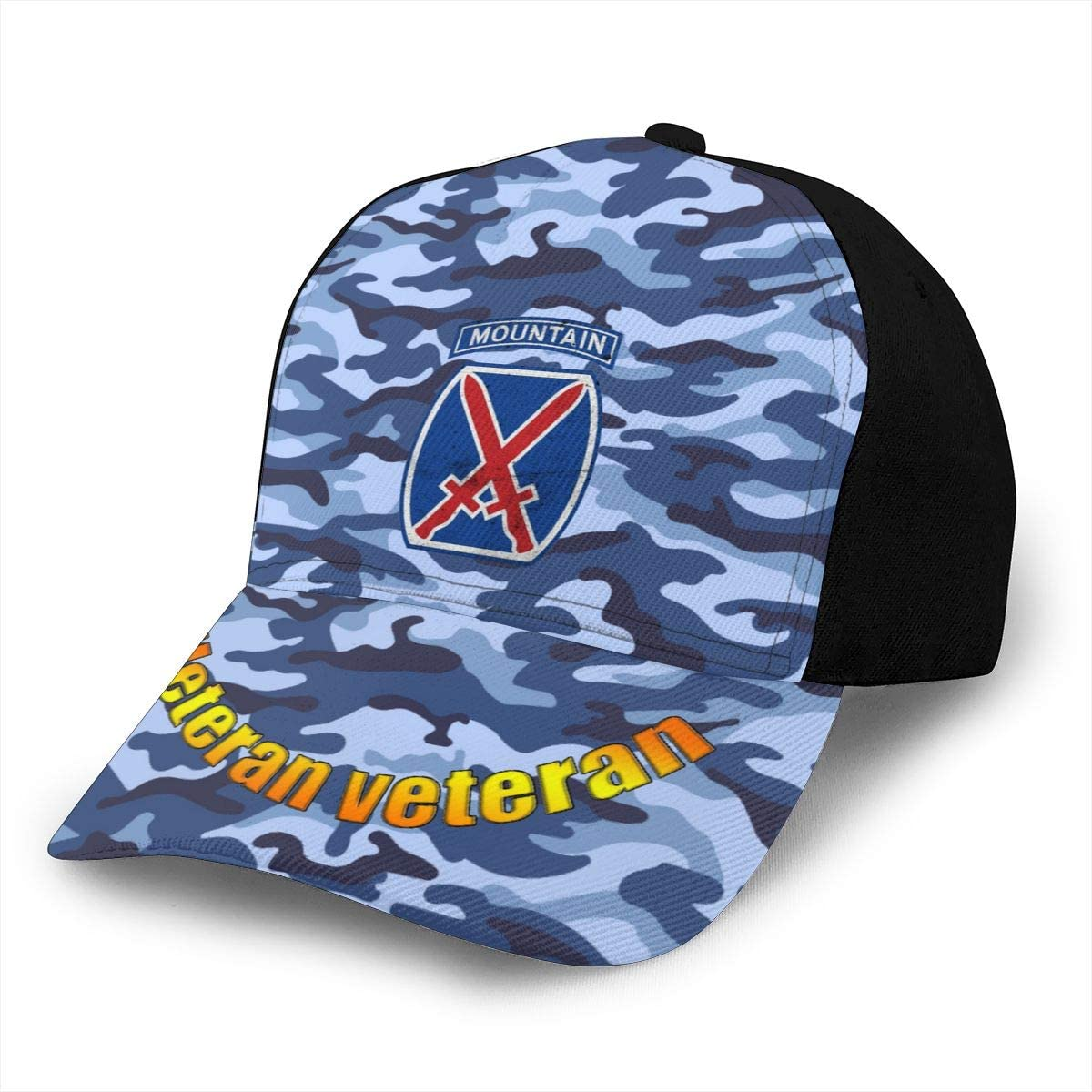 US Army Retro 10th Mountain Division Classic Adult Caps Printing Duck Tongue Baseball Hats Snapback Unisex Hat Adjustable