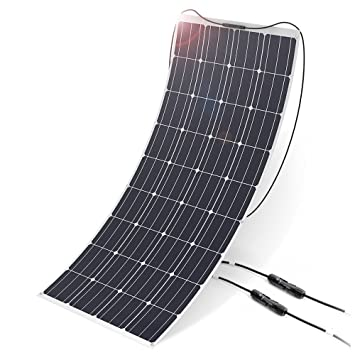 ALLPOWERS 160W 18V 12V Cargador Panel Solar Monocristalino Ligero Flexible con Conectador MC4 para Coche, Carpa, Cabina, Barco, RV (Compatibilidad con ...