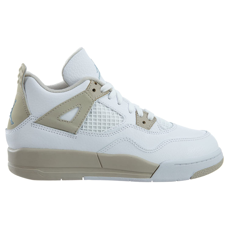 11 M US Jordan 4 Retro GP Little Kids Shoes White//Boarder Blue//Light Sand 487725-118