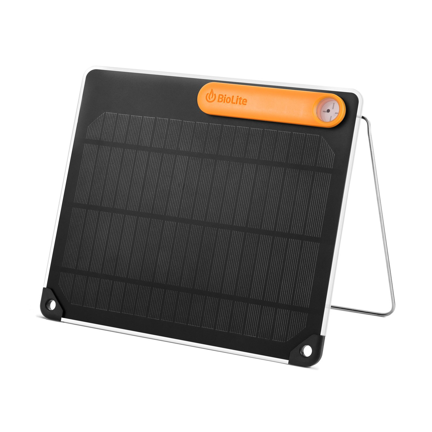 BioLite SolarPanel5 - Includes Solar Panel with 5 Watt USB Output, Solar Panel Battery Charger For On-Demand Light and Energy, 0.26 x 10.1 x 8.2 Inches, Black/Yellow (SPB1101)