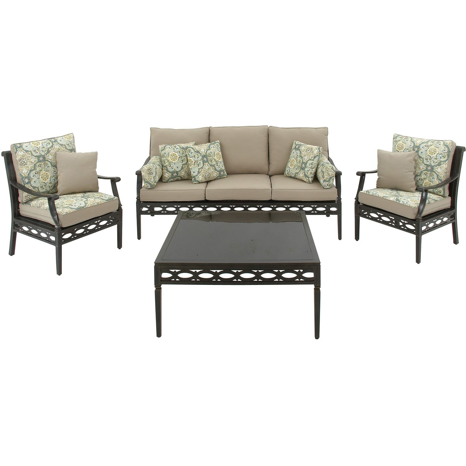 Amazon.com : Hanover CORTEZ4PC 4 Piece Outdoor Cortez Patio Set : Garden U0026  Outdoor