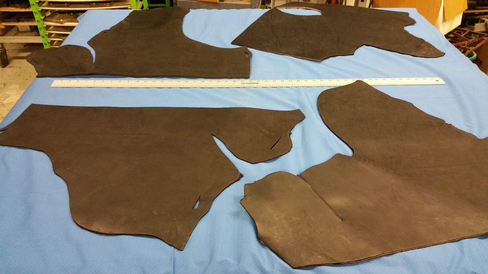 Veg-Tann/Harness/Bridle Full Grain Leather Black, Bundle #9/10 oz +