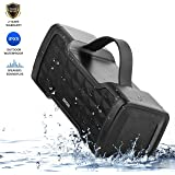 JONTER Waterproof Bluetooth Speaker,Portable Wireless Speaker with Built In Subwoofer,24W Dual Stereo and Handsfree,Ideal for Home,Outdoors,Party,Camping,Travel,Beach and Others