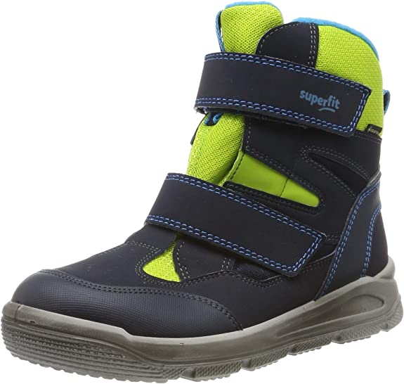 Superfit Mars, Boys'Snow Boots, Blue (Blau/Grün 81), 13 child UK (32 EU),Superfit,509078