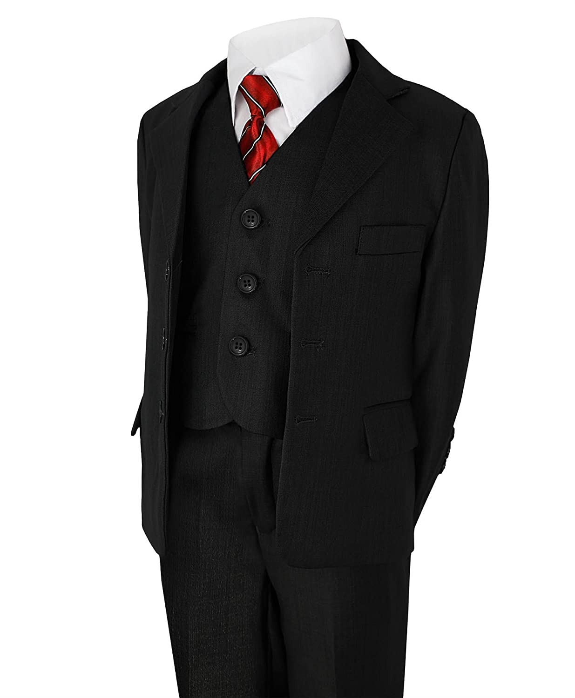 LOTMART Boys 5 Piece Suit Wedding Party Jacket Trousers Shirt ...