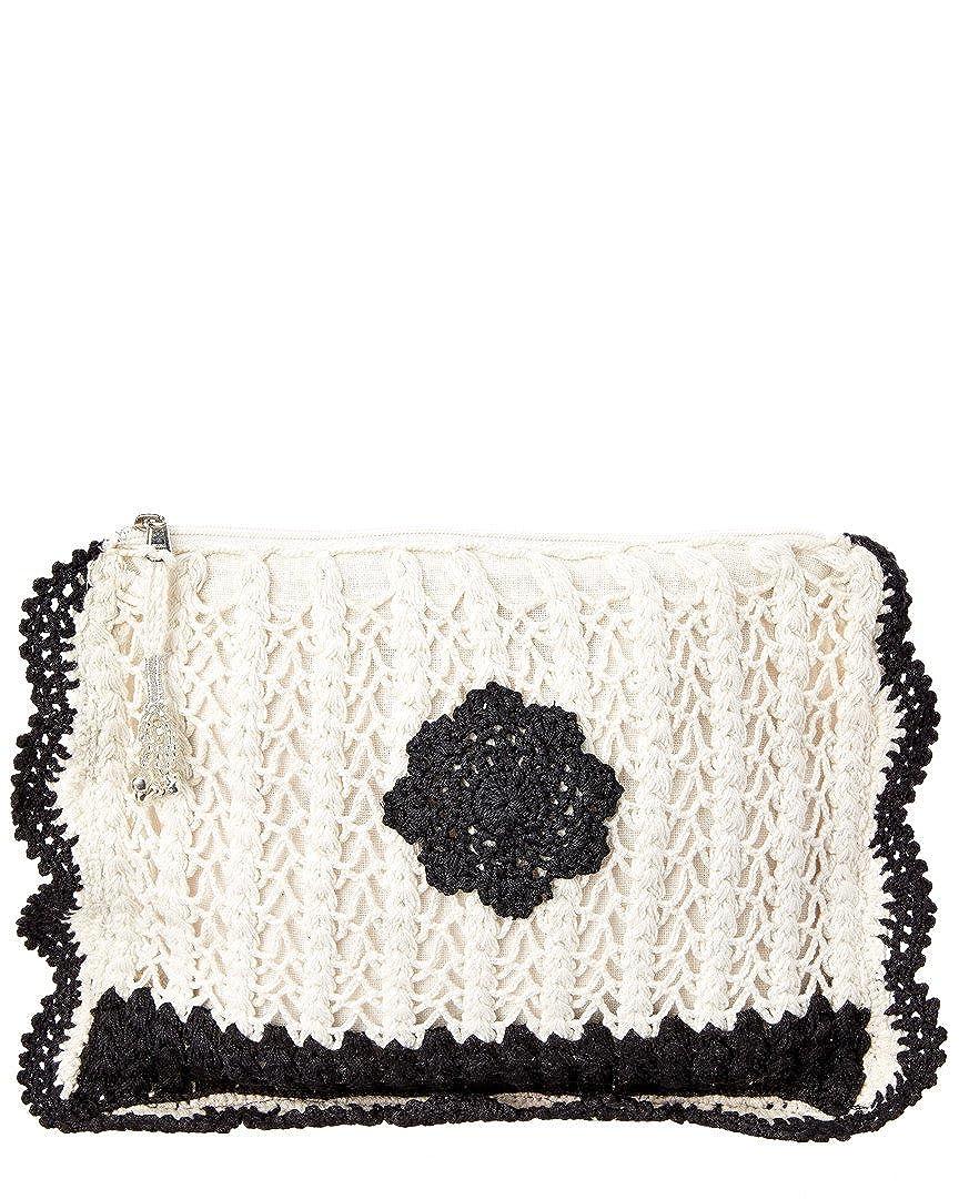 Muche Et Muchette Womens Grace Scalloped Crochet Clutch Black