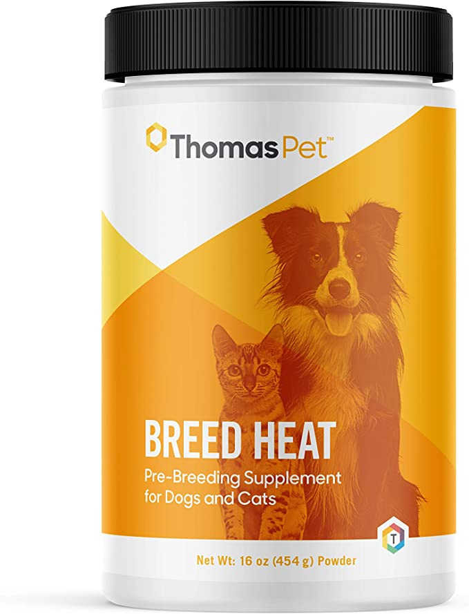 Amazon Com Thomas Pet Breed Heat Helps Regulate Heat Cycles In Dogs Cats Herbal Based Formula Pet Supplements And Vitamins Pet Supplies