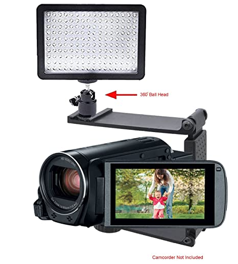 Includes Mounting Bracket Canon VIXIA HF R62 Professional Long Life Multi-LED Dimmable Video Light